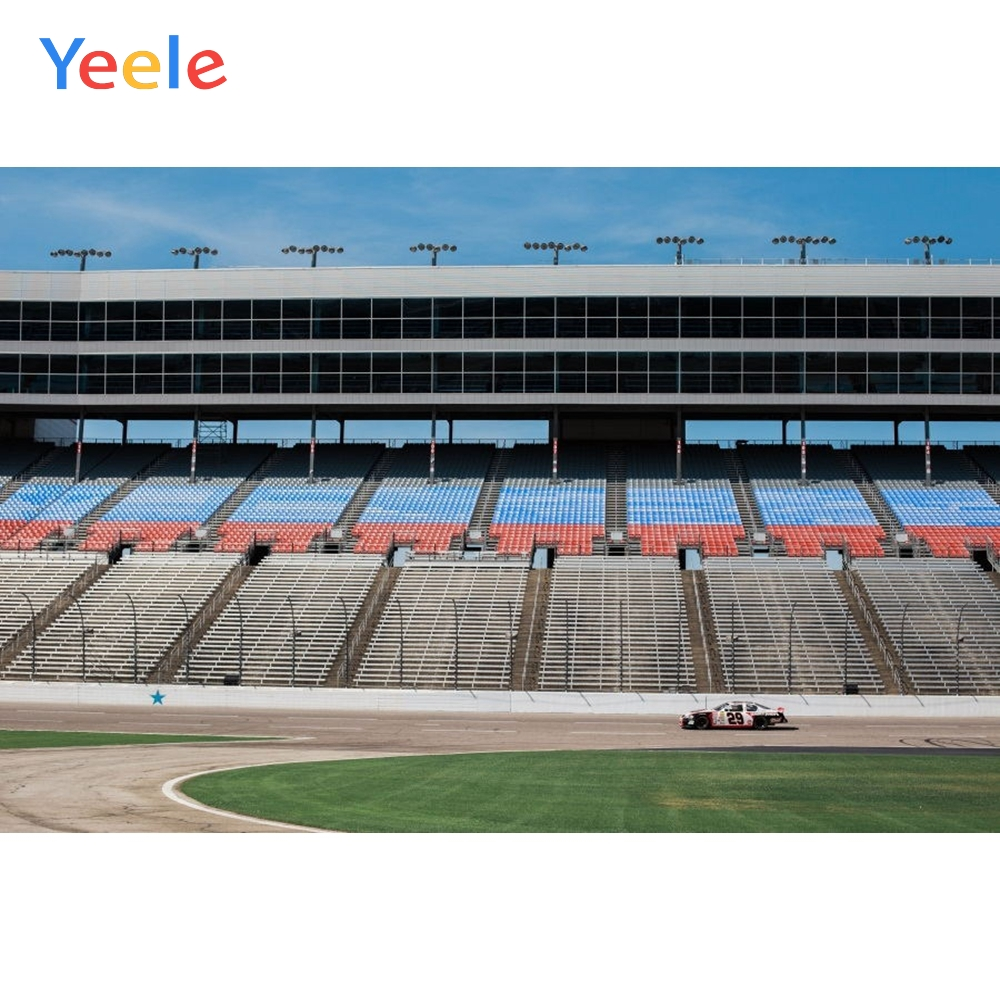 Yeele Racing Car Sports Photography Backdrops Stadium stand F1 Match Field Photographic backgrounds For The Photo Shoots Studio in Background from Consumer Electronics