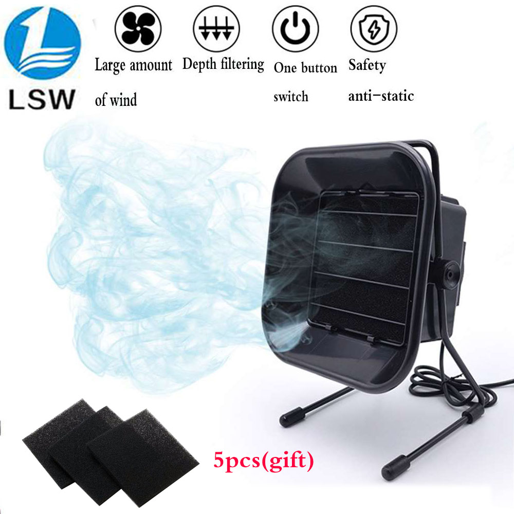 220V 493 Equipped With 5 Free Activated Carbon Filter Sponges,  Welding Smoke Vacuum Cleaner ESD Smoke Purifier