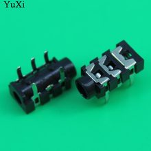 Yuxi 3.5 Mm Female Audio Konektor 5 Pin DIP Headphone Jack Socket PJ-313(China)