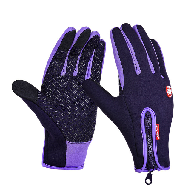 Cycling Gloves Full Finger Neoprene PU Breathable Leather Warm Pesca Fitness Carp Cycling Accessories Winter Bicycle Gloves