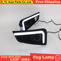 Car Styling Daytime Running Lights for Honda city LED DRL 2015 city LED Fog Light Front Lamp Automobile Accessories.