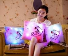 FRUOMAN Luminous Pillow Led Light Pillow Plush Pillow Colorful Star Anime Cushion Juguetes Christmas Toy Birthday Gift