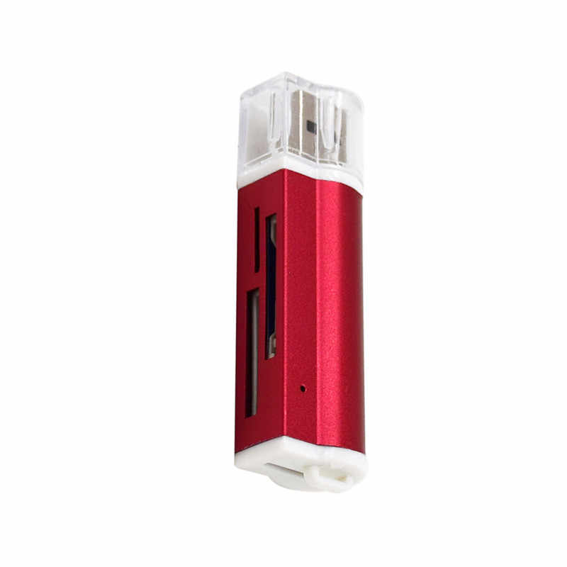 Grosir 4 In 1 Micro USB 2.0 Pembaca Kartu Memori Usb Adaptor untuk Micro Sd Kartu TF M2 MMC MS pro Duo Card Reader
