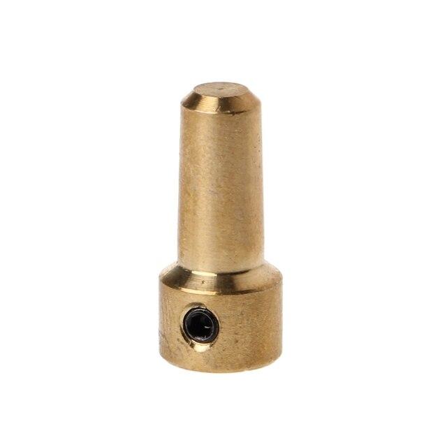Portabrocas eléctricas de latón de 3,17mm JT0 acoplamiento del eje del acoplamiento accesorio de la abrazadera del acoplador