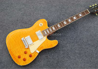 Customised version, TL electric guitar. Yellow tiger stripes. The LOGO can be customized. Real photos, factory wholesale.