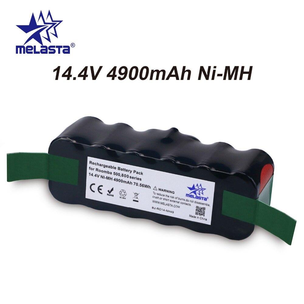 Atualizado Capacidade 4.9Ah 14.4 v NIMH bateria para iRobot Roomba Série 500 600 700 800 510 530 550 560 620 650 770 780 870 880 R3