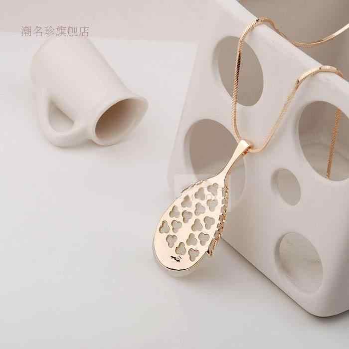 Мода белый опал свитер цепь воды Висячие Длинные ожерелье женское ожерелье женский подарок