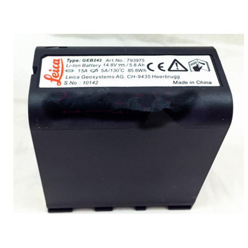 100% brand new GEB242 1/GEB241 14.8V 5800mAh Li-ion battery For TS30 and TM30 total station
