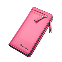 New Luxury Leather Female Wallet Fashion Women Wallets And Purses Brand Long Women Clutch Coin Purse