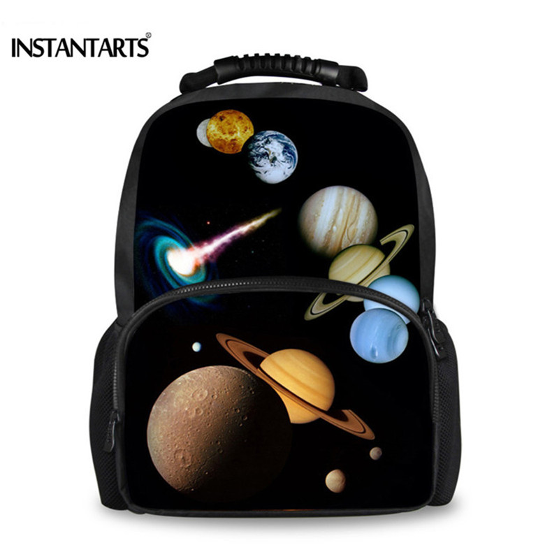 INSTANTARTS Universe Space Galaxy Felt Backpack for Men 3D Solid Pattern Male School Bag Teeneger Boys Travel Laptop Backpacks am 1029 фигурка кот мопсик латунь янтарь