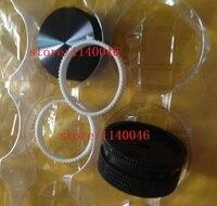 2pcs 40 18 6mm Multi Turn Potentiometer Knob Cap Black Volume Control Knob Aluminum Lattice Grooved