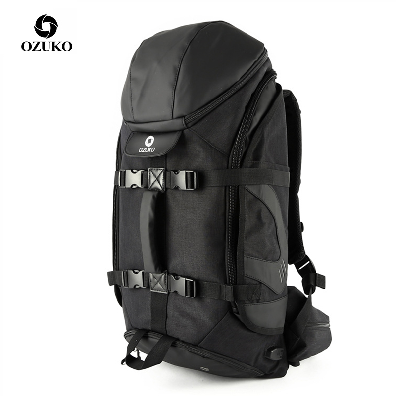 OZUKO Brand Men Travel Backpack Large Capacity 17 inch Laptop Bag Male Multifunction Mountaineering Backpacks Outdoor