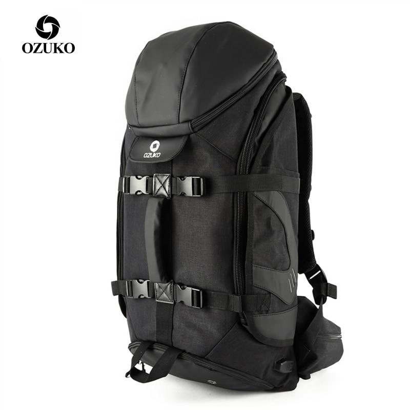 OZUKO Marke Männer Reise Rucksack Große Kapazität 17 zoll Laptop Tasche Männlichen Multifunktions Bergsteigen Rucksäcke Outdoor Sport Taschen-in Rucksäcke aus Gepäck & Taschen bei  Gruppe 1