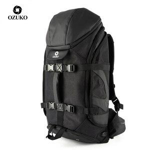 Image 1 - OZUKO marka mężczyźni podróży o dużej pojemności 15.6 cal laptopa plecak mężczyzna wielofunkcyjne górskie plecaki torby sportowe na zewnątrz