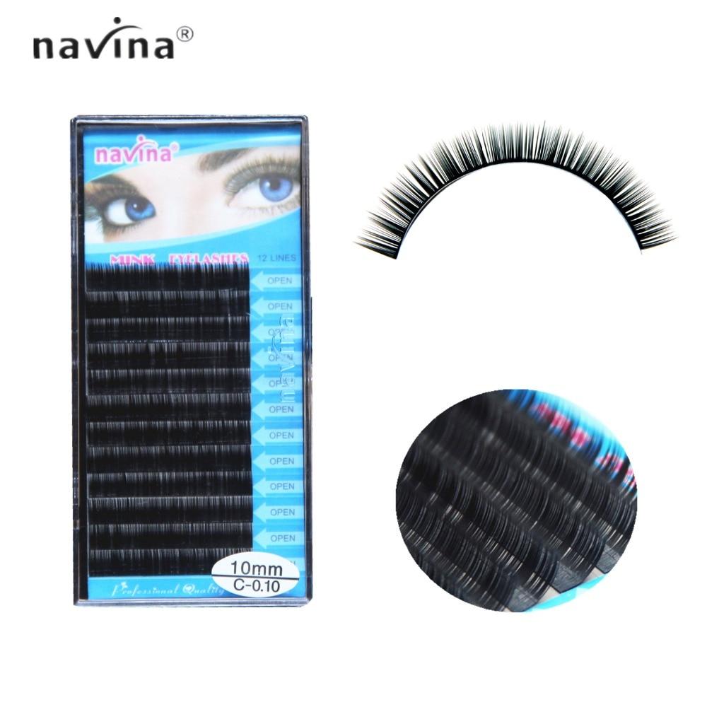 73ff5f9c332 Navina False Eyelash J/B/C/DL faux mink hair silk lashes eyelash extensions  false mink eyelash extensions 3d 6d curl lashes