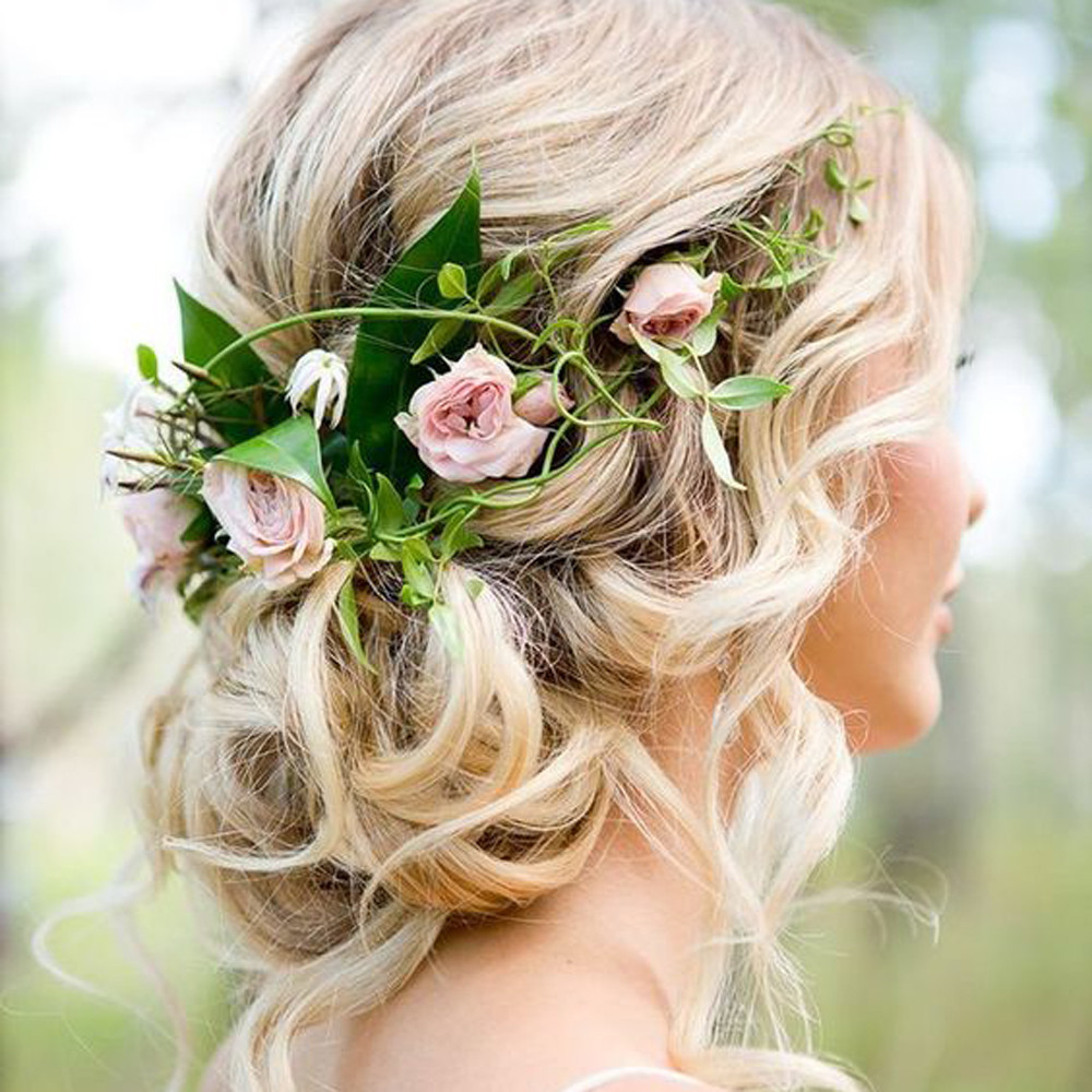 Wedding Bridesmaid Boho Floral Flower Festival Forehead Headband Garland Hair Accesorios ...
