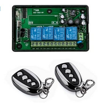 85 220V 110V 4CH RF Wireless Remote Control System Radio Switch remote switch 220V Learning code