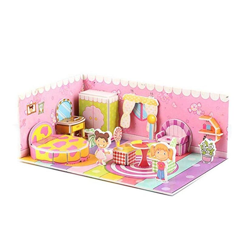 Бумага паззлами раннего обучения Строительная сборка детей украшения дома английские детские игры раннее образование игрушки - Цвет: YJL80925771I