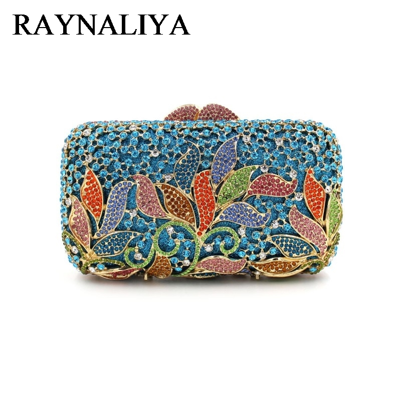 Women Luxury Rhinestone Clutch Evening Handbag Ladies Crystal Wedding Purses Dinner Party Bag Bird Flower Purse ZH-A0296 milisente high quality luxury crystal evening bag women wedding purses lady party clutch handbag green blue gold white