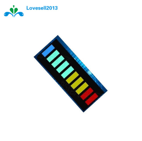2Pcs/Lot 10 Segment Full Color LED Bargraph Light Display Module Ultra Bright Red Yellow Green Blue(RYGB) Dip DIY