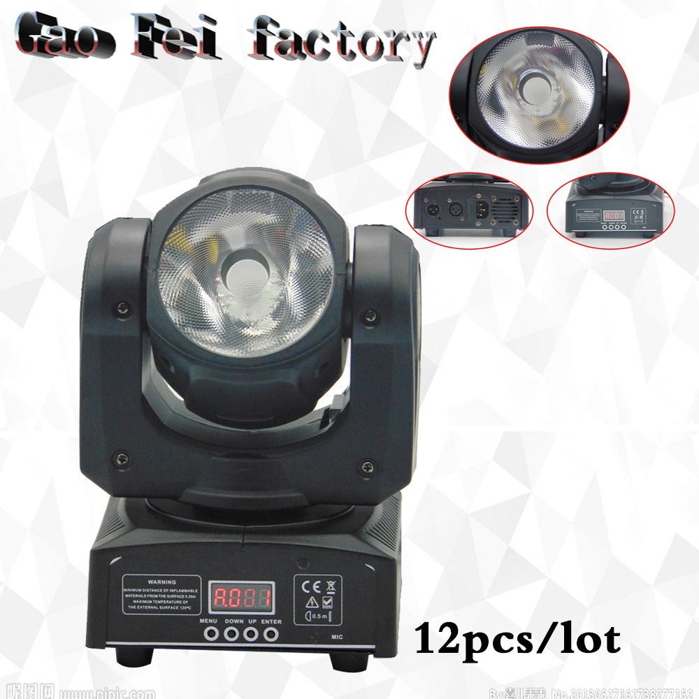 12 pcs/lot LED Spot Moving Head Light/USA Luminums LED DJ Spot Light 60W beam moving heads lights super bright LED DJ Spot Light 4pcs 60w flightcase led spot moving head light usa luminums mini led beam moving head 60w rgbw 4in1 beam led dj spot light