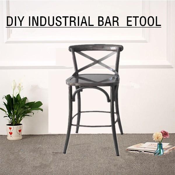 modern luxury metal powder coating cross back dining chair for bar shop