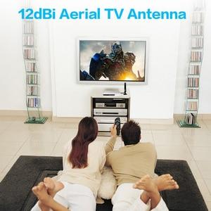 Image 5 - 12dBi الجوي HDTV هوائي التلفزيون ل DVB T HD TV HDTV الرقمية إكسس HDTV هوائي 3 M