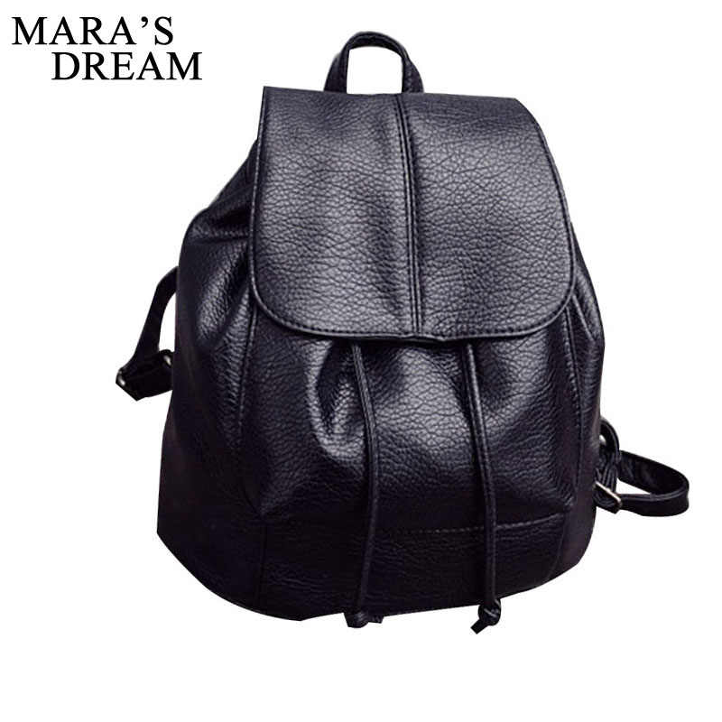 Mara's Dream New Travel Backpack Women Female Rucksack Leisure Students School Bag Soft PU Leather Women Bag Mochila Escolar