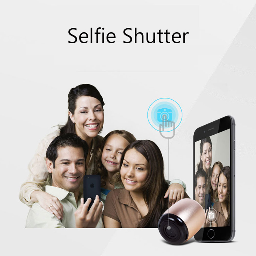 Aimitek Metal Mini Portable Wireless Bluetooth Speaker Small Pocket Size with Selfie Remote Shuttle Control Button Handsfree Mic