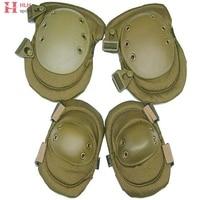 Best Grade EVA Upgrade Edition Adjustable Tactical Combat Knee & Elbow Pads Sport Protector Pad