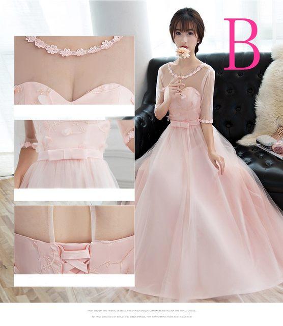 907dca679d3b Online Shop Abiti formales donna bella palla abito rosa lungo ...