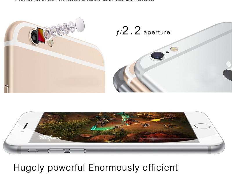 Unlocked Apple iPhone 6 1GB RAM 4.7inch IOS Dual Core 1.4GHz 8.0 MP 3G WCDMA 4G LTE iPhone 6 16GB gold 5
