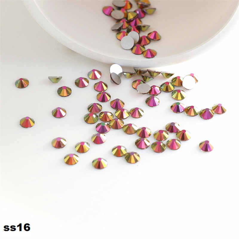 ss16 Red Gold 3.8-4.0mm 1440pcs/Pack Flat Back Crystal Non Hotfix Glue on Nail Art Rhinestones Decorations DIY Supplies ss16 crystal light siam rhinestones for nail art 1440pcs pack flat back non hotfix glue on nail art decorations diy supplies
