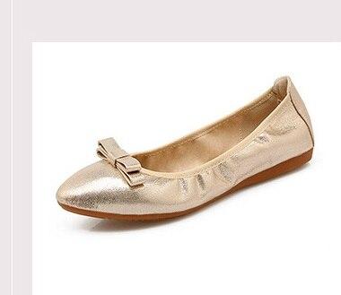 De Nouvelle Talons 45 44 Appartements sur Sans Plus Respirant Chaussures Marque La Taille Ballet Argent Black Bow 2018 Danse silver Mode Pour Slip 3 Femmes Or gold Noir Efx7B8d