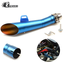 35MM-51MM Universal Motorcycle Exhaust Pipe Escape Scooter Muffler With DB Killer  For Suzuki GSF 600 Bandit 1300 R Hayabusa motorcycle muffler stainless steel exhaust motorcycle muffler exhaust pipe for suzuki hayabusa gsxr1300 gsx650f gsf650 bandit