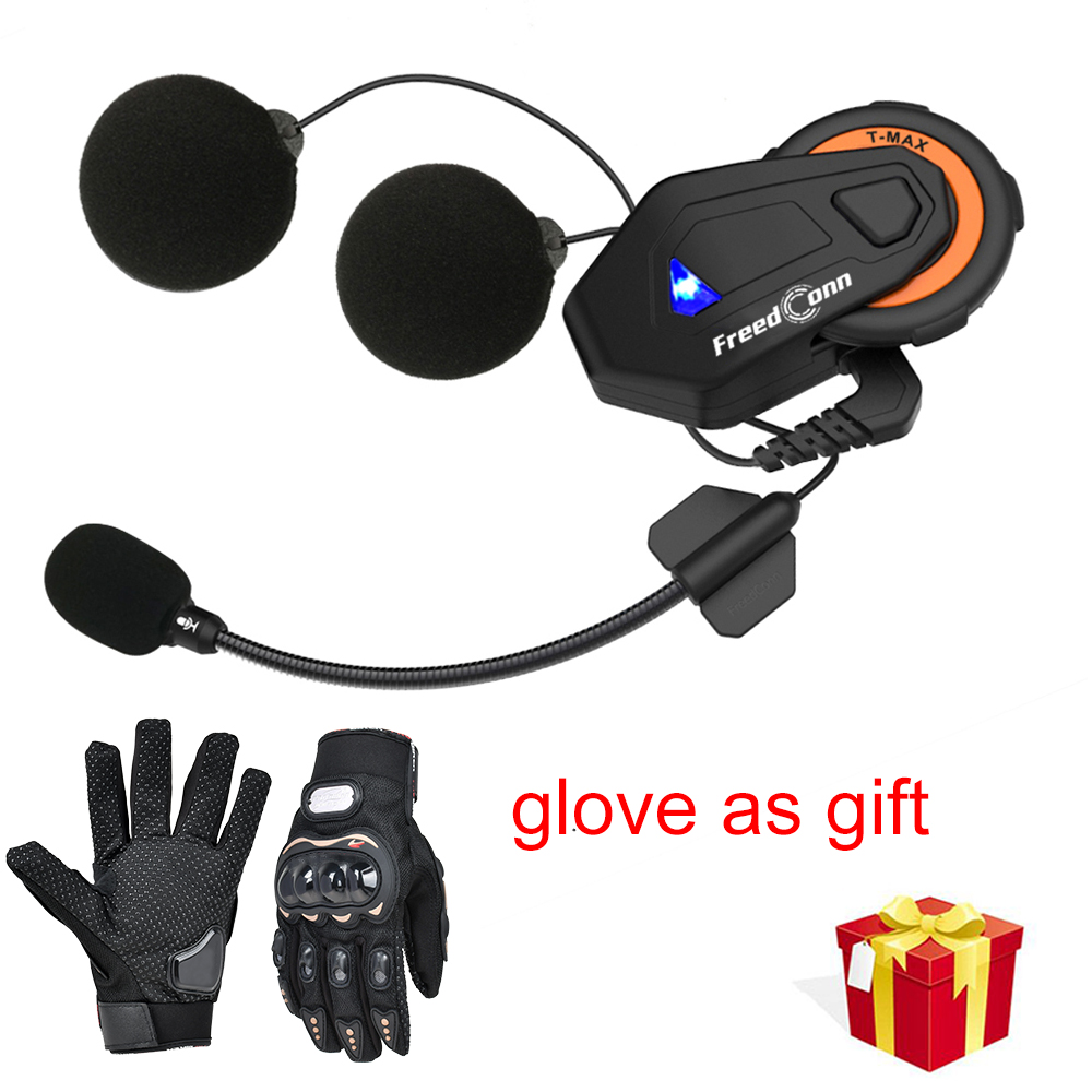 Freedconn T-MAX Motorcycle Helmet Bluetooth Headset Intercom 6 Riders Group Intercom BT Interphone FM Radio Bluetooth 4.1