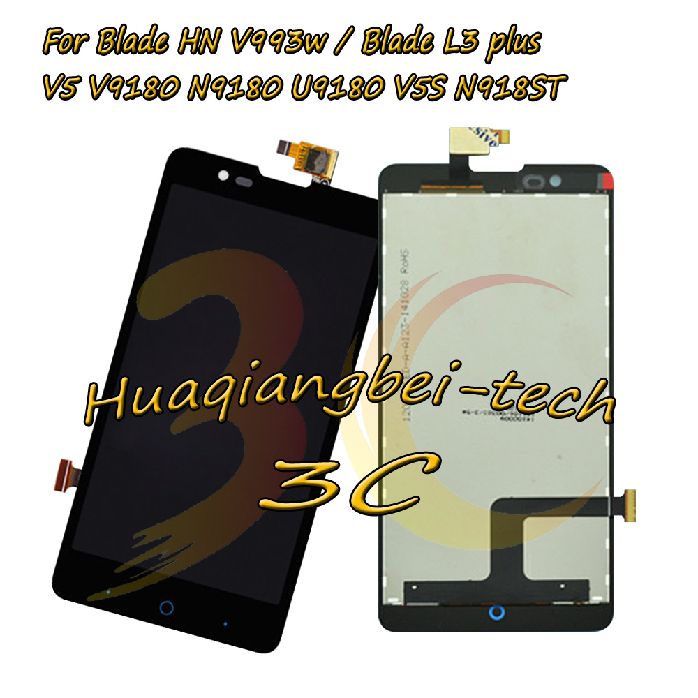 New For ZTE Blade HN V993w / Blade L3 plus / V5 V9180 N9180 U9180 V5S N918ST Full LCD DIsplay + Touch Screen Digitizer Assembly