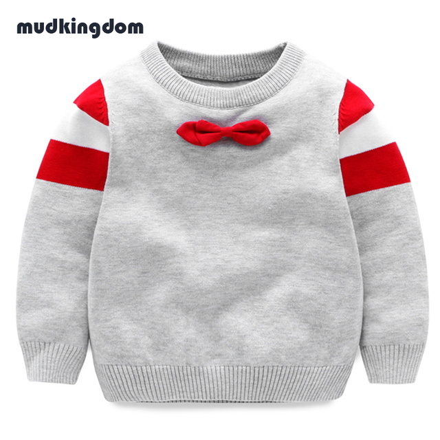 Mudkingdom Boys Winter Warm Cotton Sweaters wit Bow Tie Children ...