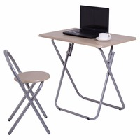 Goplus Folding Study Writing Desk Table Chair Set Kids Student Learning Furniture Children Home School Table