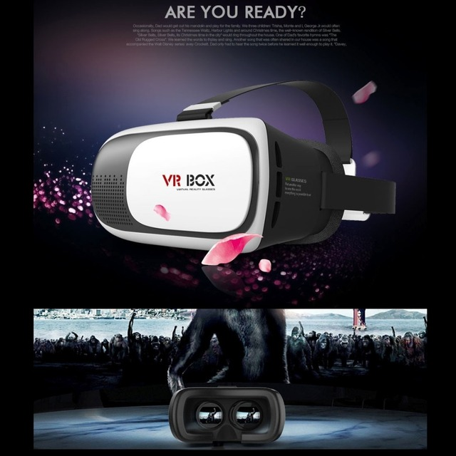 VR BOX 2.0 Version Universal Bluetooth 3.0 3D Glasses Virtual Reality 3D Video Glasses for 3.5 to 6 inch Smartphones