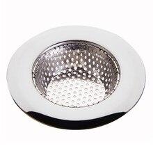 1 шт. сетчатый фильтр для раковины волос из нержавеющей стали для сливного отверстия, Металлический канал, искусственный фильтр, ванна, фильтр для раковины, мусора