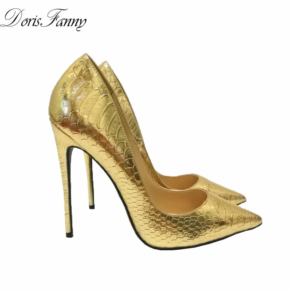 Aliexpress Buy DorisFanny 2017 party gold wedding shoes