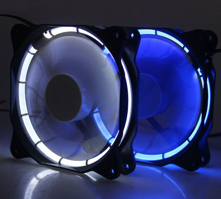 20 PCS Gdstime 3Pin 4Pin 12 Volt LED DC Fan 120mm 12025 Computer Case Super Silent Fan 12V with LED Light White Blue gdstime 1 pcs dc 12v 120x120mm 3 pin 4 pin 12cm led fan 120mm x 25mm pc rgb fan hydraulic 12025 computer case cooling radiator