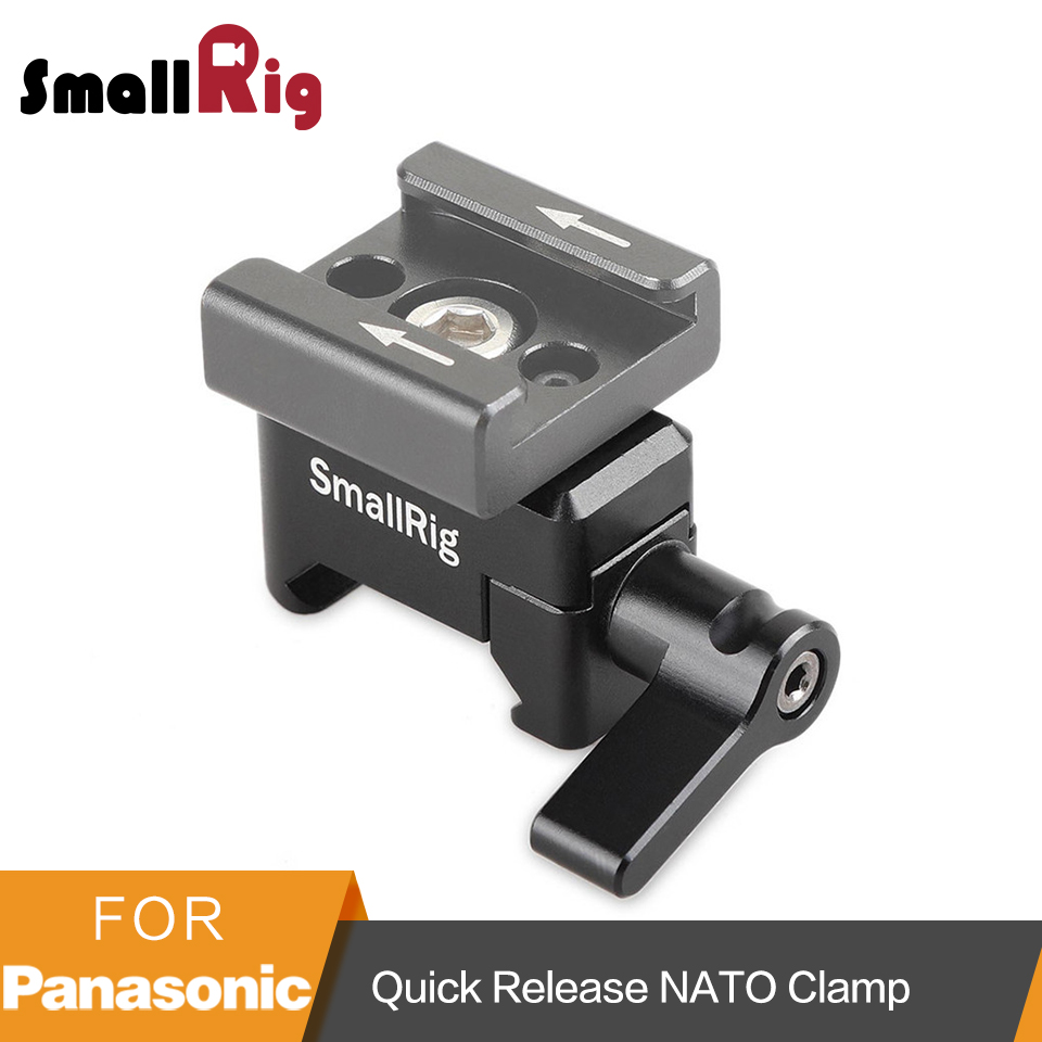 SmallRig Nato Clamp Quick Release Clamp with 1/4 3/8 M2.5 Thread for Cold Shoe Monitor Support Ball Head - 1973