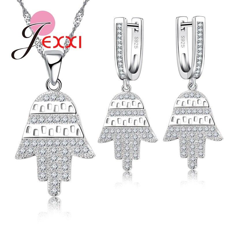 546706454e2b JEXXI Faith árbol diseño alta calidad 925 plateó la joyería de plata para  las mujeres collar y pendientes para el amante