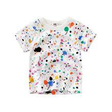Kids Boys Print T Shirt Short Sleeve