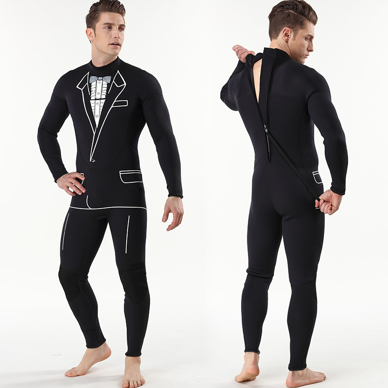 3mm mens continuous diving suit surf suit long sleeved trousers for individual diving suit3mm mens continuous diving suit surf suit long sleeved trousers for individual diving suit