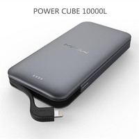 Mipow 10000mAh Power Bank 3A Fast Charge With MFi Certified Connector Ultra thin Polymer Metal Alloy Power bank For iPhone 7 8 X