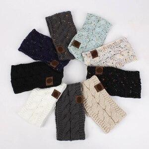 20 Colors Multi Colorful Knitted Crochet Twist Women Headband Winter Ear Warmer Elastic Hair Band For Womens