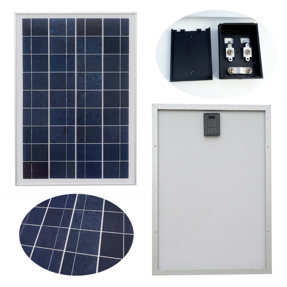 50w 2pcs 25W 12V Polycrystalline Solar Panel 12V for Charging 12V Battery Solar Generators